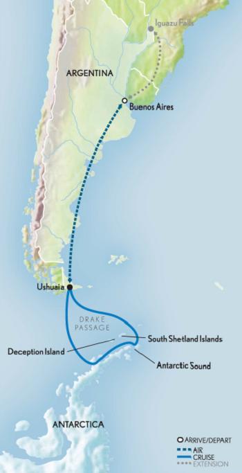 Map for Classic Antarctica