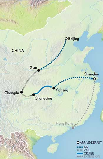 Map for China & the Yangtze