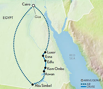 Map for Family Egypt & The Nile