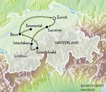 Itinerary map of Family Switzerland