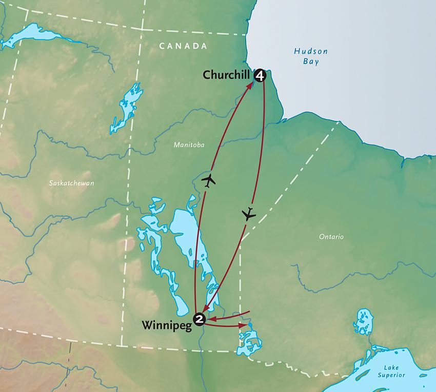 Map for Polar Bears of Churchill