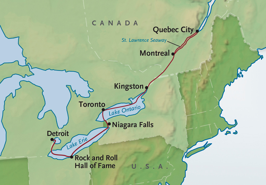Map Of Canada Quebec Montreal.Quebec Montreal Toronto Small Ship Cruise Alexanderroberts
