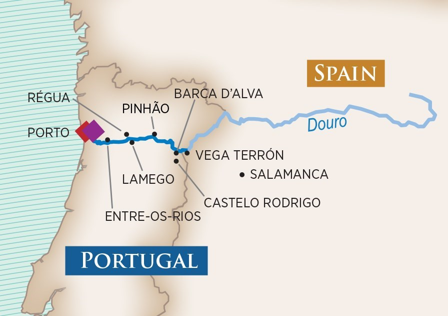 Itinerary map of Enticing Douro