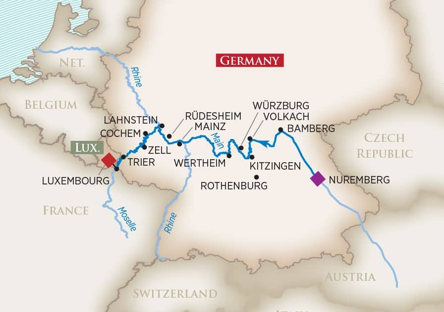 Europe's Rivers & Castles (Nuremberg to Luxembourg)