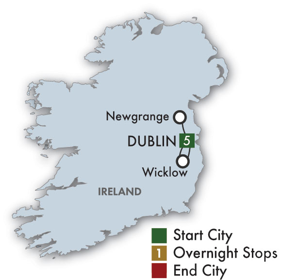 Itinerary map of 2019 St. Patrick