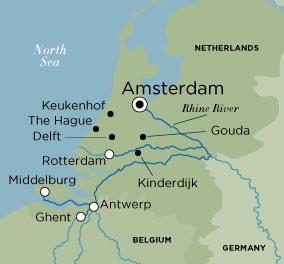 Itinerary map of Tulips & Windmills (Round Trip)