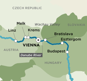 Itinerary map of Danube Dreams & Discoveries (Round Trip)