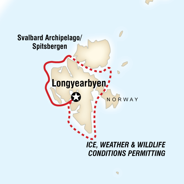 Itinerary map of Realm Of The Polar Bear In Depth