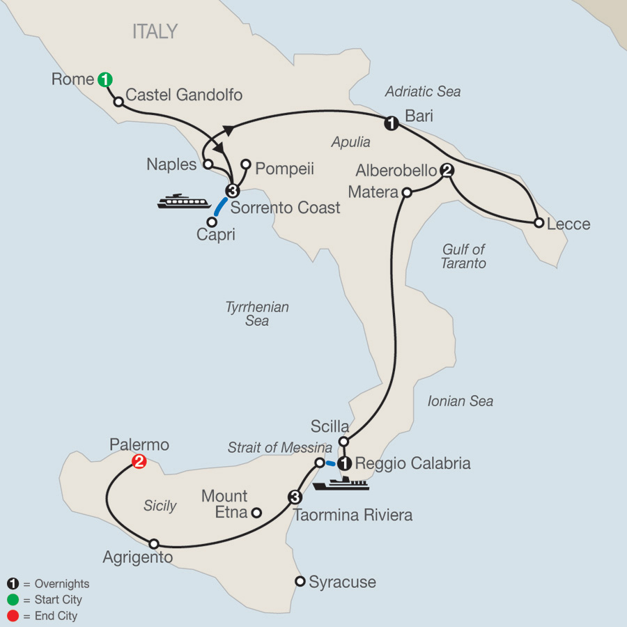 Highlights of Sicily & Southern Italy 2019 - 14 days from ...