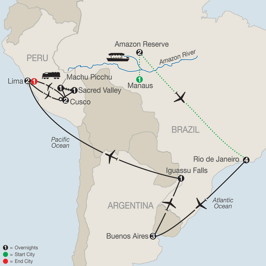 Spirit of South America with Amazon 2019 - 19 days from Manaus to ...