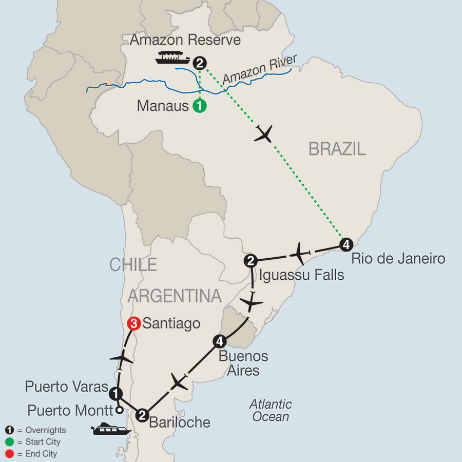 South American Odyssey with Amazon 2019 - 20 days from Manaus to ...