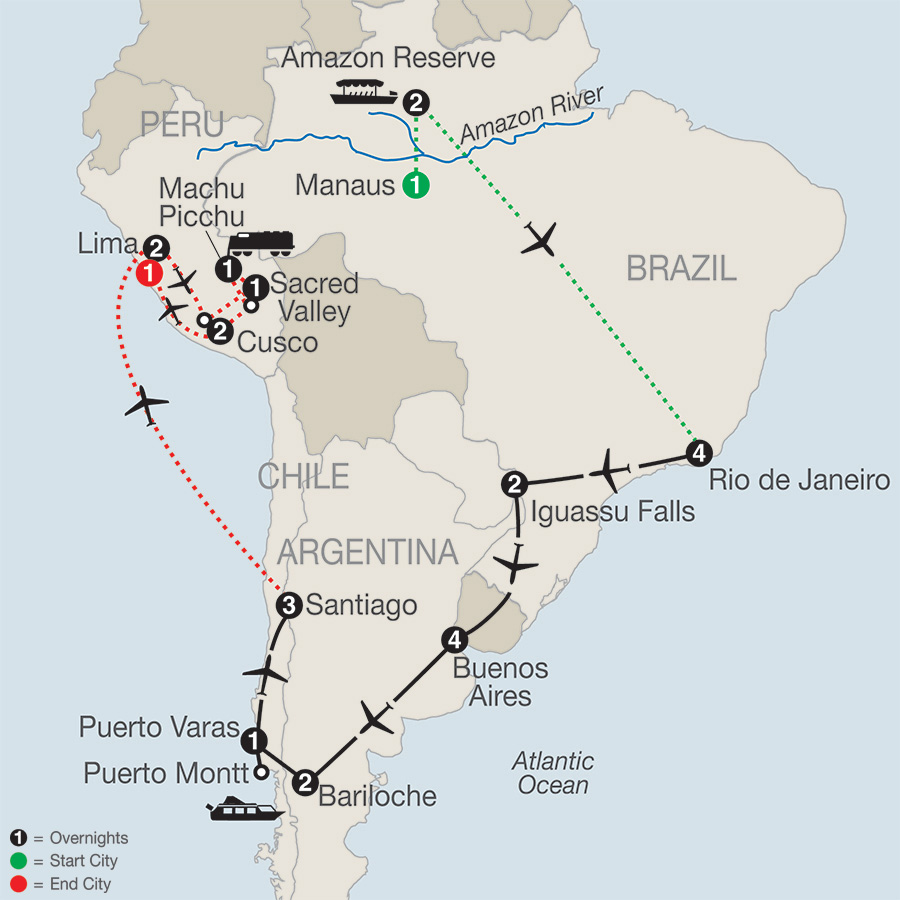 South American Odyssey with Amazon & Peru 2019 - 27 days from Manaus ...