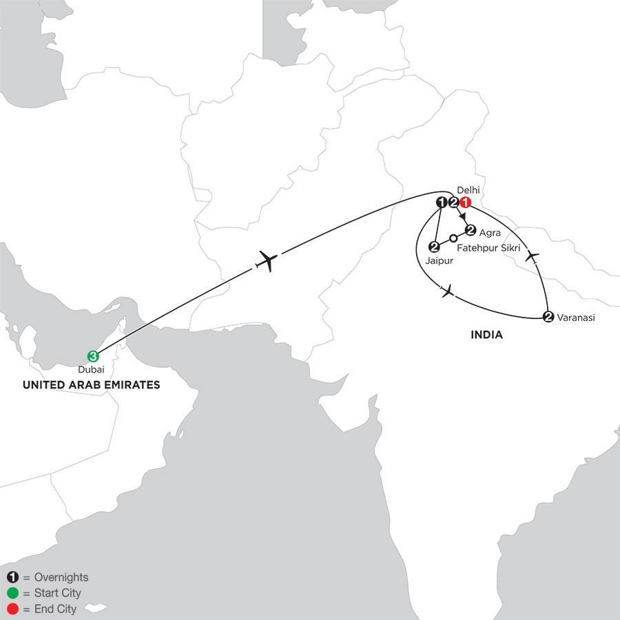 India S Golden Triangle With Dubai Varanasi 2018 From Dubai To