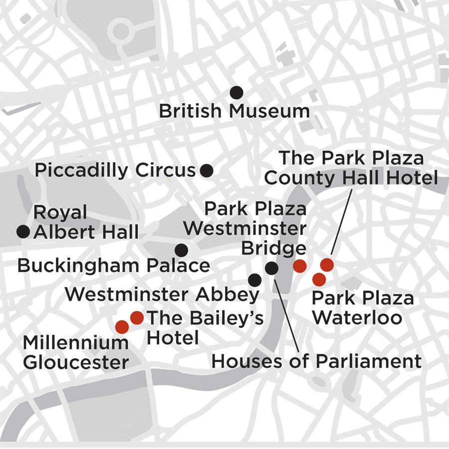 Itinerary map of London Getaway 2019