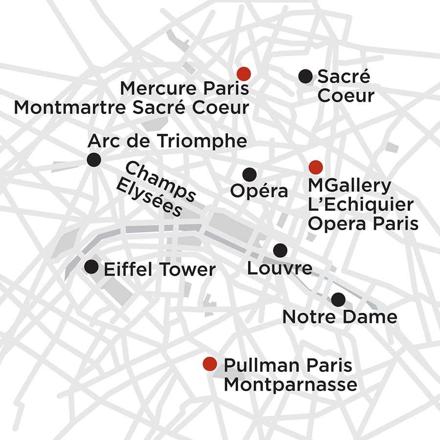 Itinerary map of Paris Getaway 5 Nights 2019