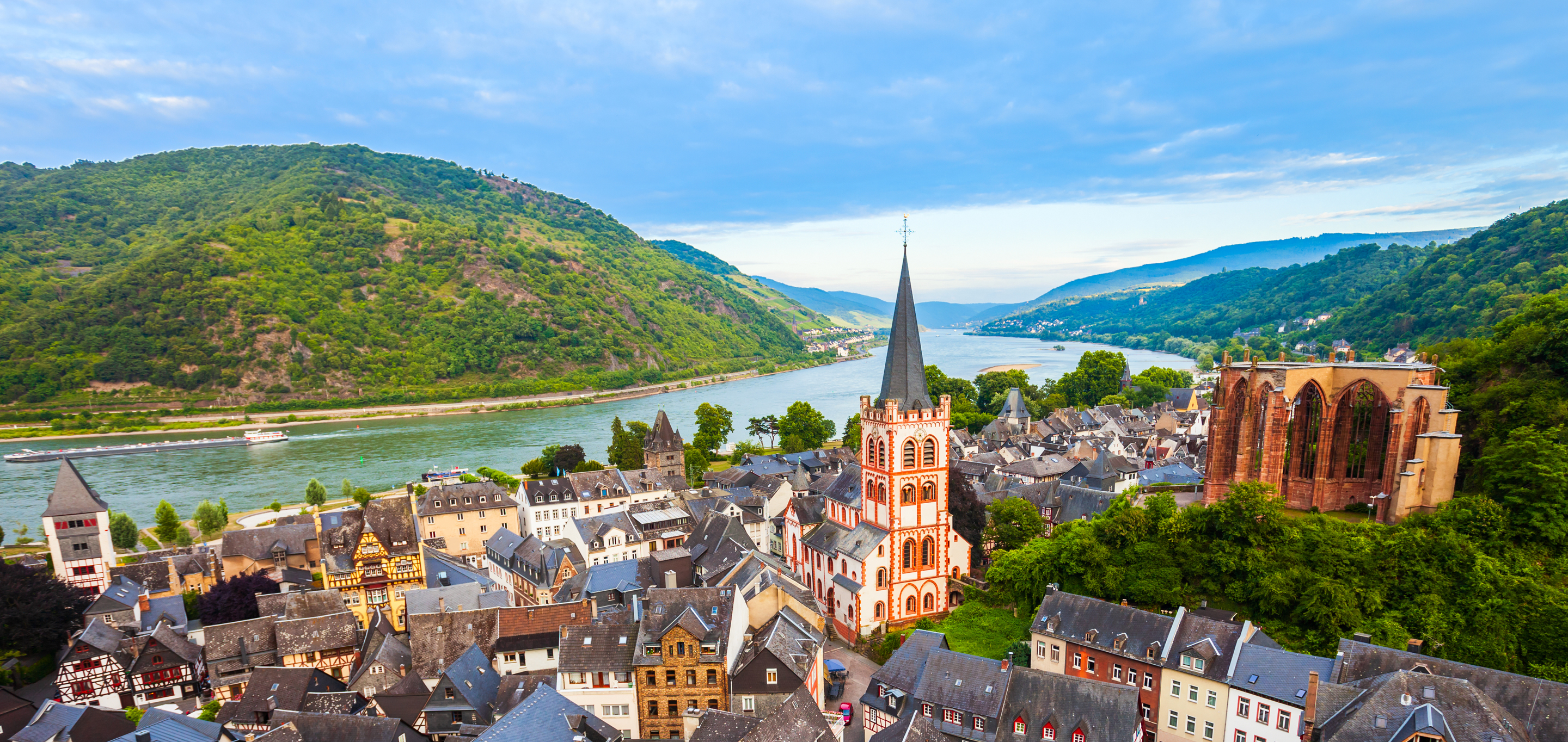 Romantic Rhine River Cruise during Oktoberfest