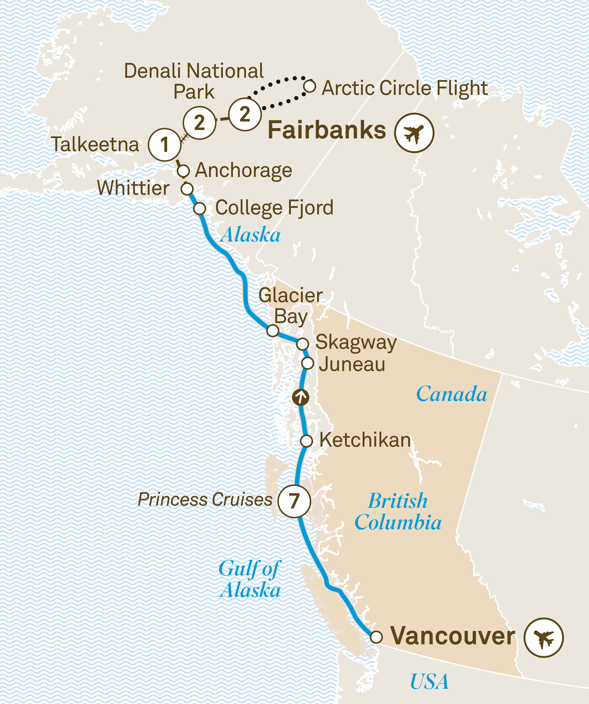 Alaska Including The Arctic Circle Scenic Cruises Pavlus Travel