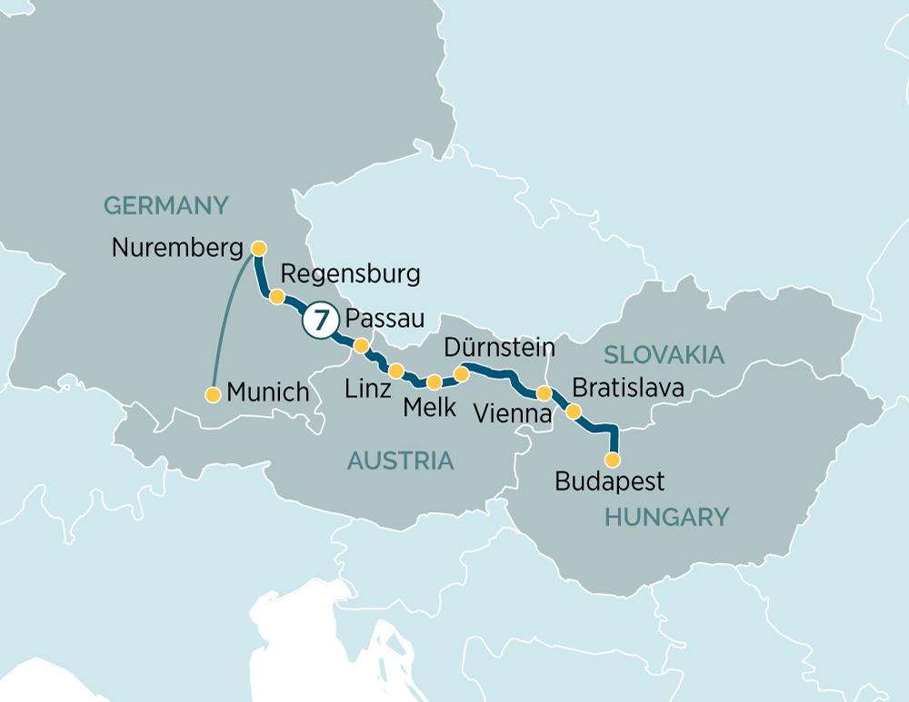 Map for Danube Delights