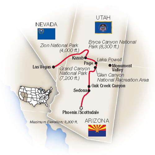Map for America's Canyonlands