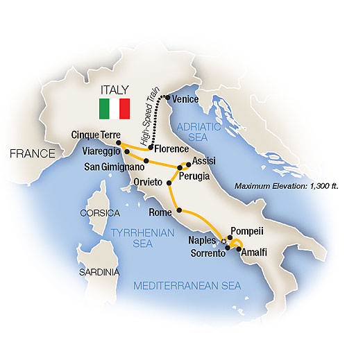 Map for Classic Italy