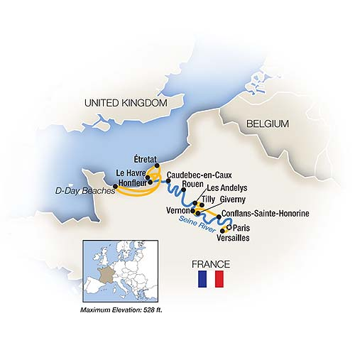 Itinerary map of Rendezvous on the Seine