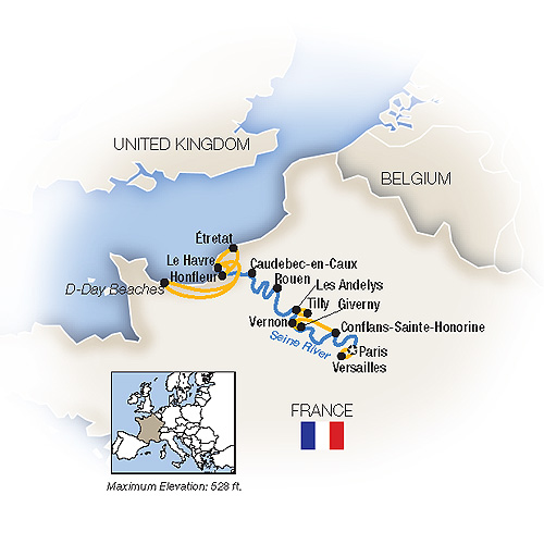 Map for Rendezvous on the Seine