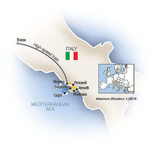Itinerary map of The Sweet Life: Rome & Sorrento