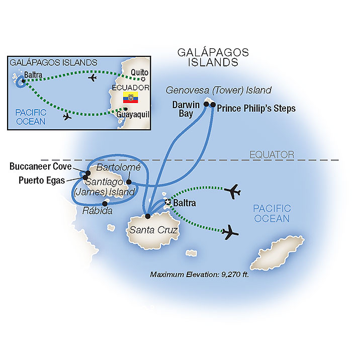 Map for Galápagos: Wildlife Wonderland