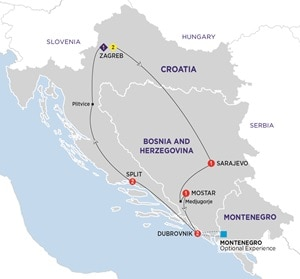 Itinerary map of Best of the Balkans Summer 2019