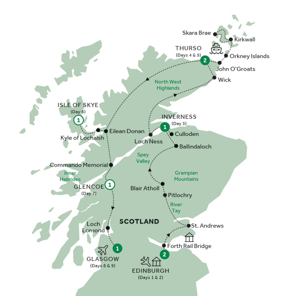 Map for Country Roads of Scotland (Preview 2020)