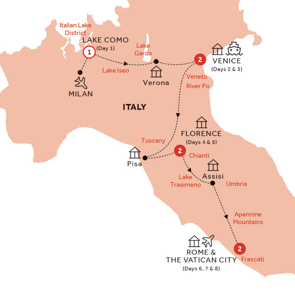 Map for Italian Intermezzo (Summer 2019)