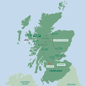 Itinerary map of Best of Scotland Summer 2019