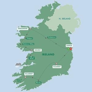 Map for Enchanting Emerald Isle Summer 2019