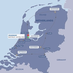Itinerary map of Best of Holland Summer 2019
