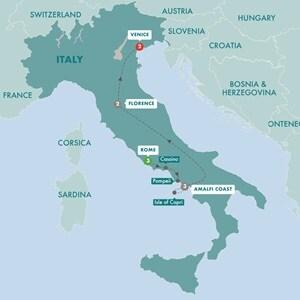 Itinerary map of Italian Concerto Summer 2019
