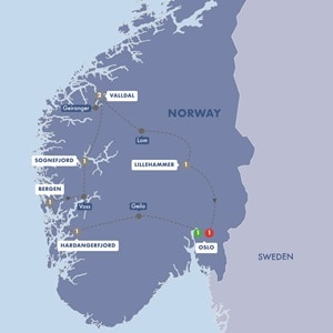 Itinerary map of Best of Norway Summer 2019
