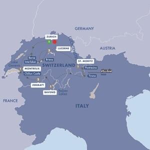 Itinerary map of Best of Switzerland Summer 2019