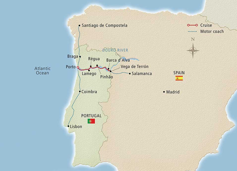 Itinerary map of Portugal